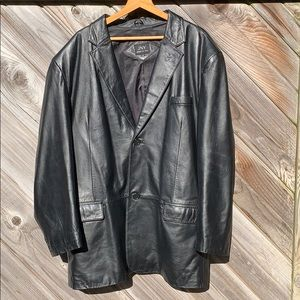 Vintage 80's 90's leather jacket cottage core